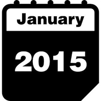 January 2015 calendar page