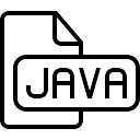 Javascript outlined file type interface symbol