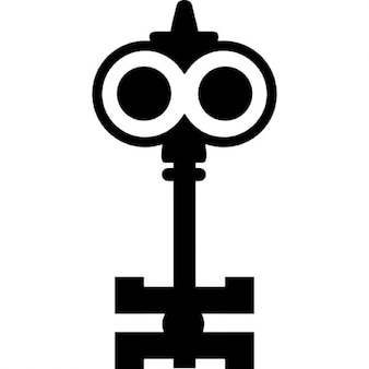 Key design like a cartoons character with big eyes