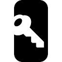 Key on rounded rectangle