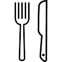 Knife and Fork outline