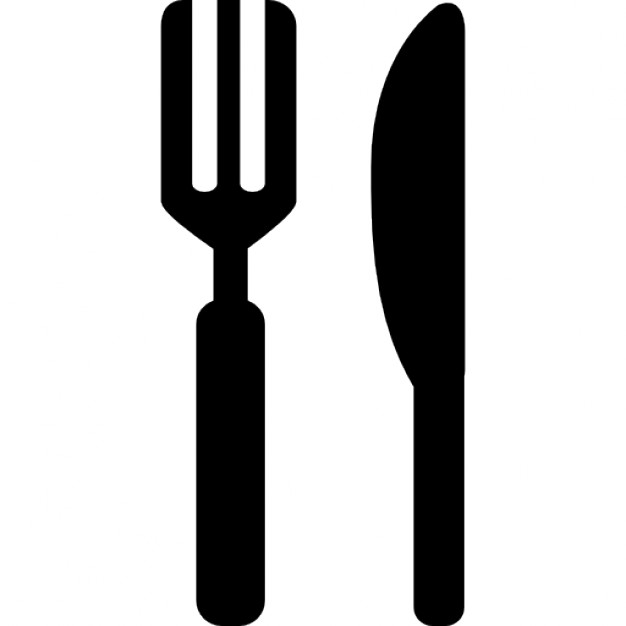 Knife and fork silhouette variants