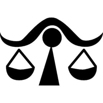 バランスの天秤座の星座のシンボル