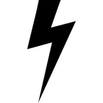 Lightning bolt black shape