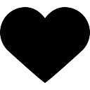 Like black heart button