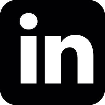 Linkedin logo, IOS 7 interface symbol