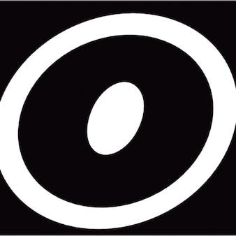 ロゴOの輪郭