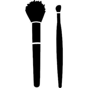 Make up brushes for blush and lipstick