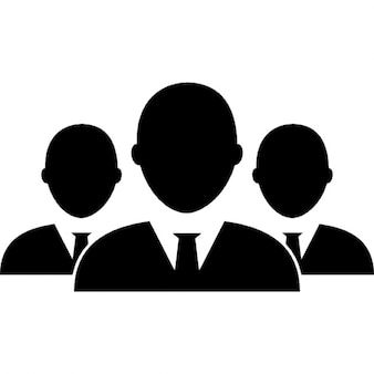 Male business group of people
