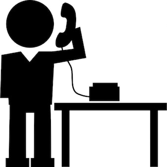 Man answering phone call