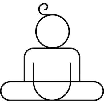 Man in split position