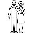 新生児との夫婦