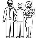 二人の子供を持つ夫婦