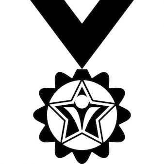 Medal variant with spiked edges and butterfly symbol