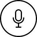 Microphone outlined circular button