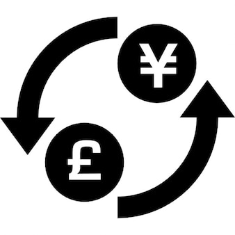 Money exchange of pound and yens