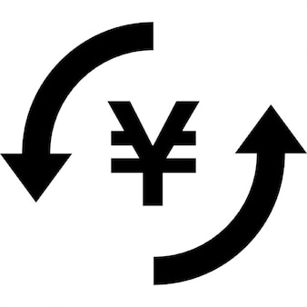Money yen exchange symbol