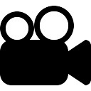 Movie symbol of video camera
