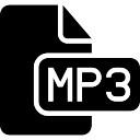 Mp3 file type black interface symbol