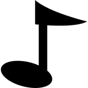 Musical note cartoon variant