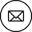 New email outline symbol in black circular button Icons | Free ...