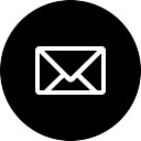 New email outline symbol in black circular button