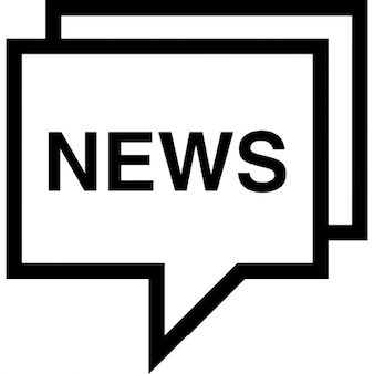 News in a speech bubble outline