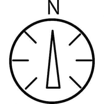 North in compass, IOS 7 interface symbol