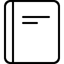Notebook or book cover outline
