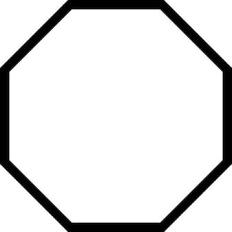 Octagon outline shape