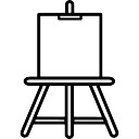 Paint easel outline artistic tool