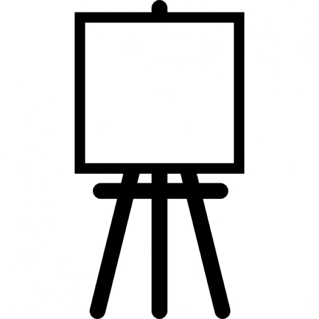 Painter easel with square canvas