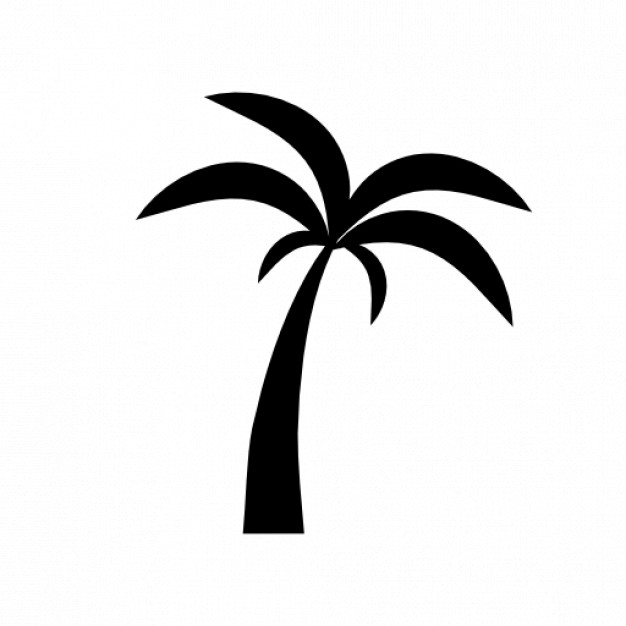 Palm tree silhouette 2