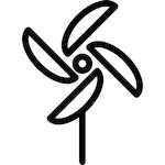 Pinwheel outline