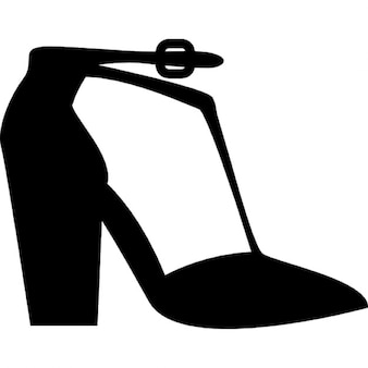 Platform heels with ankle strap