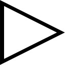 Play right arrow triangle outline