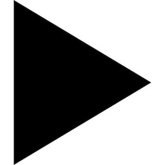 Play triangular arrow symbol