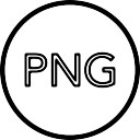 Png image file type circle outline sign