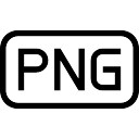 Png image file type interface symbol of rounded rectangular stroke