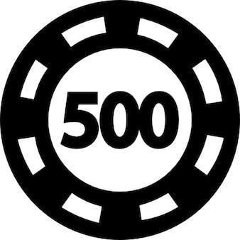 Poker chip worth 500