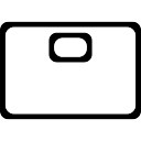 Portfolio outlined business interface symbol
