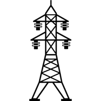 Power line with four insulators