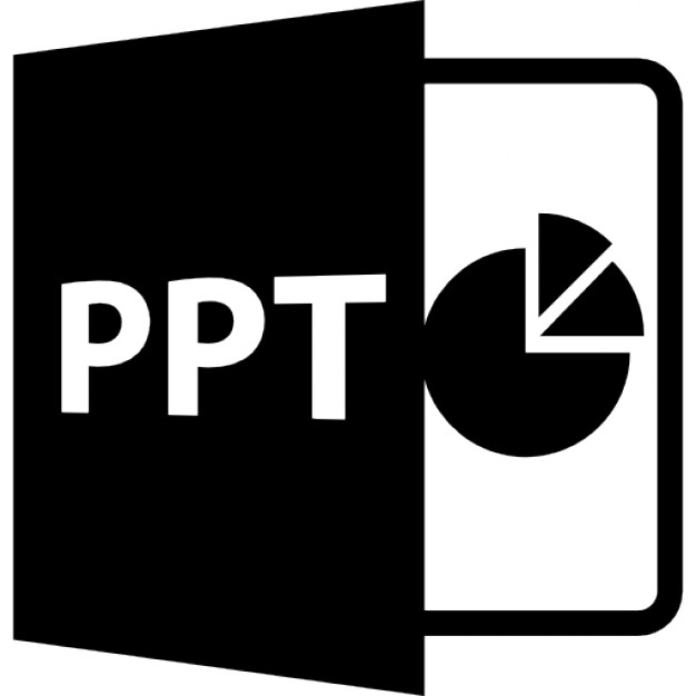 PPT open file format with pie chart