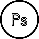 Ps in a circle outline