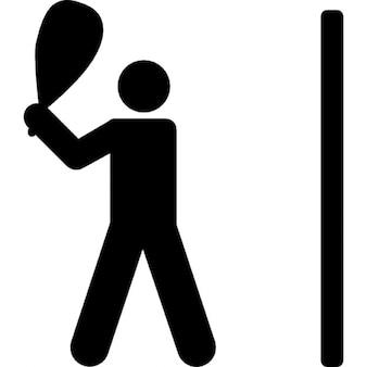 Racquetball silhouette