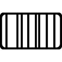 Rectangular board striped symbol