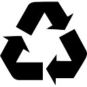 Recycle symbol of three arrows