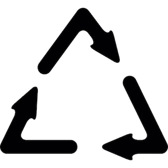 Recycle symbol with three arrows