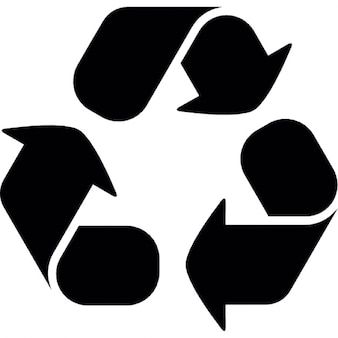 Recycling symbol with three curve arrows