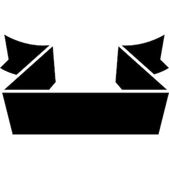 リボンデザインのバナー